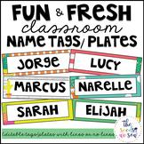 Cactus Classroom Decor: Editable Name Tags/Plates