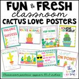 Cactus Classroom Decor: Poster Set