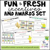 Cactus Classroom Theme: Editable Awards and Incentives Set