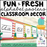 Cactus Classroom Decor: Alphabet Posters