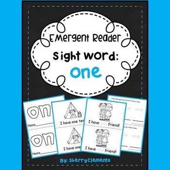 Sight Word Reader: one