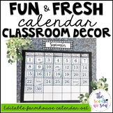 Farmhouse Classroom Decor: Calendar Set