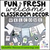 Farmhouse Classroom Decor: Editable Banner and Name Tags