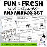 Farmhouse Classroom Theme: Editable Awards and Incentives Set