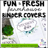 Farmhouse Classroom Theme: Editable Binder Covers and Spines