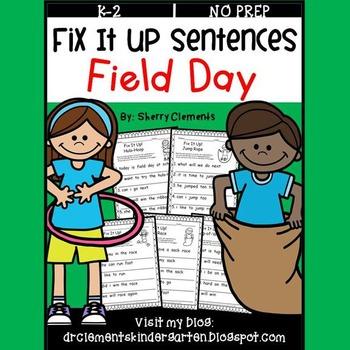 Field Day Fix It Up Sentences