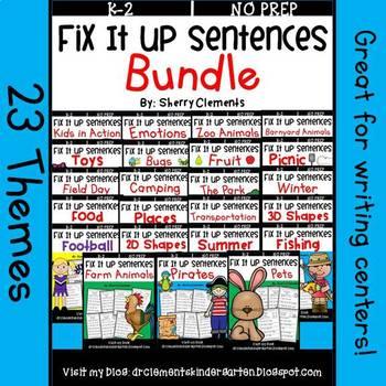 Fix It Up Sentences BUNDLE (themes)