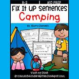 Camping Fix It Up Sentences