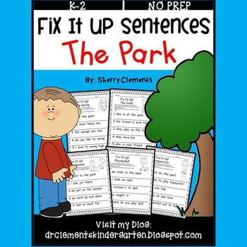 The Park Fix It Up Sentences