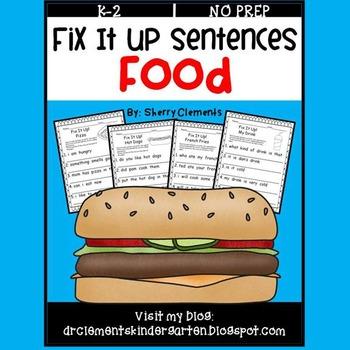 Food Fix It Up Sentences