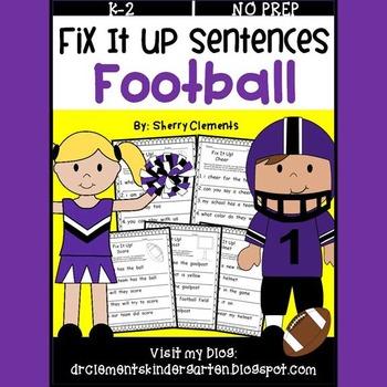 Football Fix It Up Sentences
