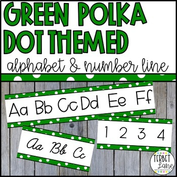 Green Polka Dot Alphabet Letters for Walls