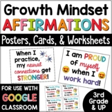 Growth Mindset Posters Bulletin Board | Growth Mindset Affirmations