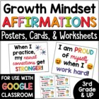 Affirmations: Growth Mindset Posters and Cards