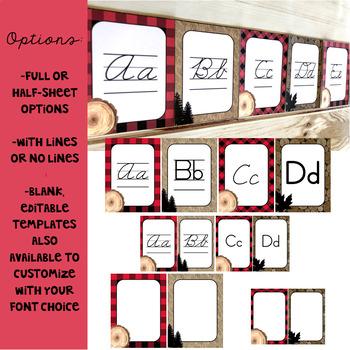 Lumberjack Classroom Decor: Alphabet Posters