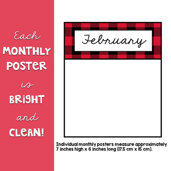 Lumberjack Classroom Decor: Birthday Poster Set