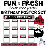 Lumberjack Classroom Decor: Birthday Poster Set