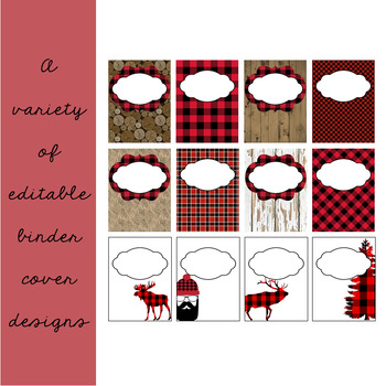 Lumberjack Classroom Decor: Editable Binder Covers & Spines