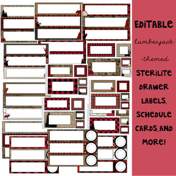 Lumberjack Classroom Decor: Editable Labels and Templates