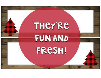 Lumberjack Classroom Decor: Editable Name Tags/Plates