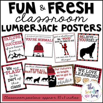 Lumberjack Classroom Decor: Poster Set