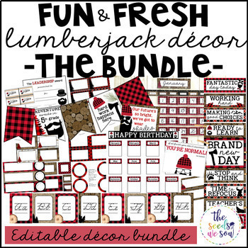 Lumberjack Classroom Decor: The Bundle