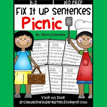 Picnic Fix It Up Sentences