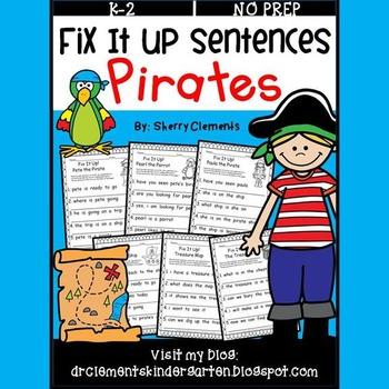 Pirates Fix It Up Sentences