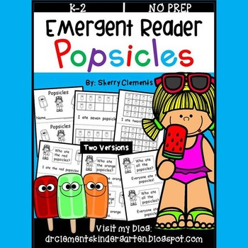 Popsicles Emergent Reader