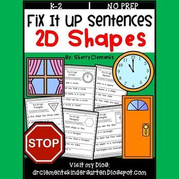Shapes (2D) Fix It Up Sentences