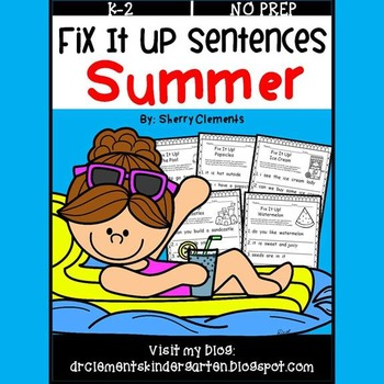 Summer Fix It Up Sentences