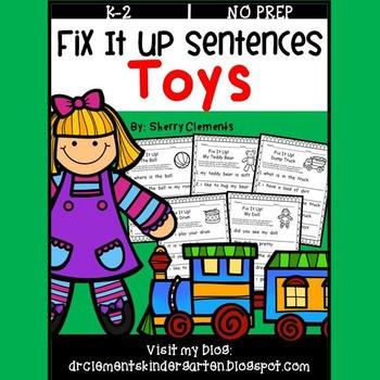 Toys Fix It Up Sentences