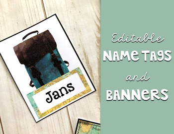Travel Classroom Decor: Editable Banner and Name Tags