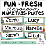 Travel Classroom Decor: Editable Name Tags/Plates