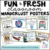 Travel Classroom Decor: Poster Set