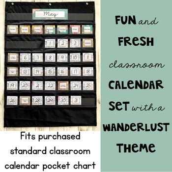 Travel Classroom Decor: Calendar Set
