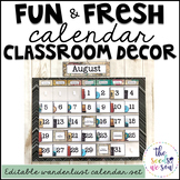 Travel Classroom Decor: Calendar Set