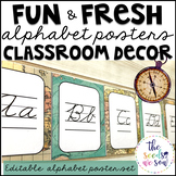 Travel Classroom Decor: Alphabet Posters