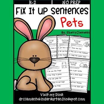 Pets Fix It Up Sentences