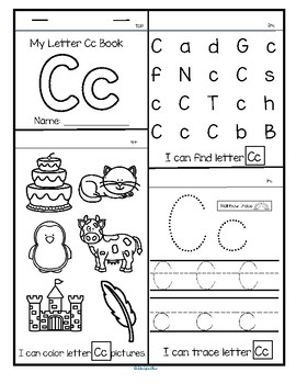 26 Alphabet Flip Books - Letter Recognition, Tracing and Sounds