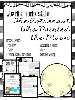 3rd Grade Weekly Reading Unit: The Astronaut Who Painted the Moon