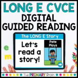 Mixed Long E CVCE Guided Reading Boom Cards™ & Google Slides