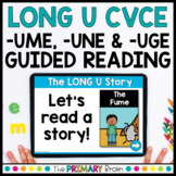 Mixed -UME -UNE & -UGE Digital Guided Reading   Boom & Google