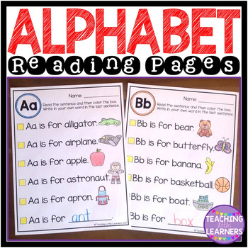 Alphabet Reading Pages