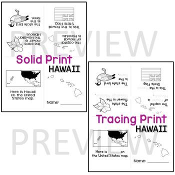 Hawaii State Mini-Book