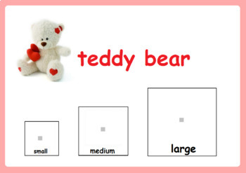 Valentine`s Day Activity - Sorting by Size for Special Education