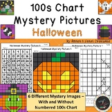 100s Chart Mystery Pictures - Halloween - Math Place Value