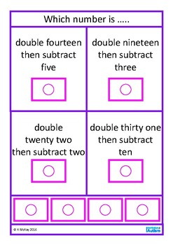 Number Read and Solve Task Boards Autism Special Education