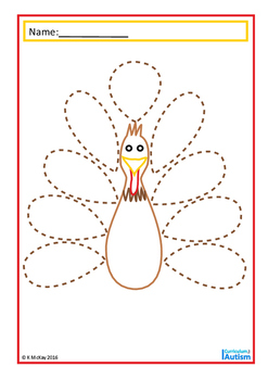Thanksgiving Turkey Fine Motor Skills Drawing Autism Special Education