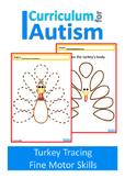 Thanksgiving Turkey Fine Motor Skills Drawing Autism Speci